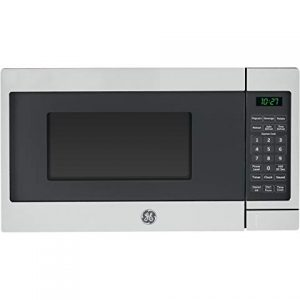 GE 700 Watt Countertop Microwave Oven, Stainless Steel (Renewed)