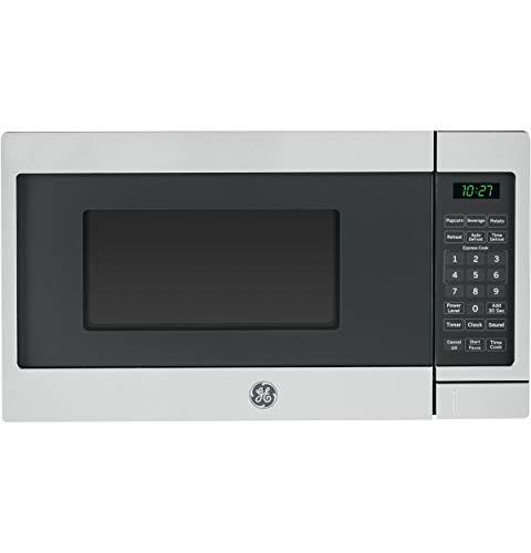 GE 700 Watt Countertop Microwave Oven, Stainless Steel (Renewed)