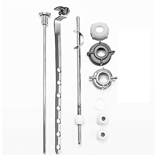 PF WaterWorks PF0907 Assembly Lavatory Pop-Up Drain Repair Kit-Threaded Adjustable Center Pivot Nuts (Universal, Moen, Pfister), 3 Sizes of Balls, Clip, Linkage, Pull Rod, (Plastic), Chrome