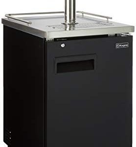 Kegco HBK1XB-3 3-Faucet Commercial Kegerator Keg Beer Dispenser - Black