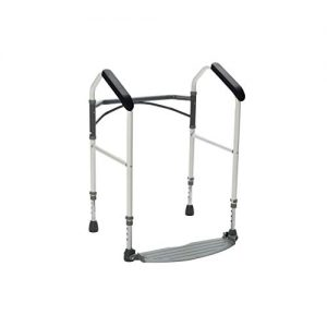 Buckingham Foldeasy Toilet Safety Frame - Strong Height Adjustable Frame Yet Foldable and Portable