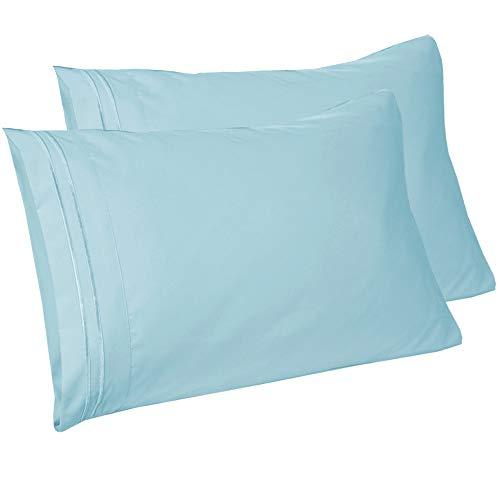 Mejoroom Luxury Pillowcase Set Brushed Microfiber 1800 Bedding - Wrinkle, Fade, Stain Resistant - Hypoallergenic (2 Pillowcases Standard, Teal) (2 Pillowcases Standard, Aqua)