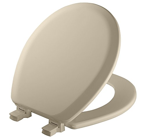 MAYFAIR 841EC 006 Toilet Seat will Never Loosen and Easily Remove, ROUND, Durable Enameled Wood, Bone