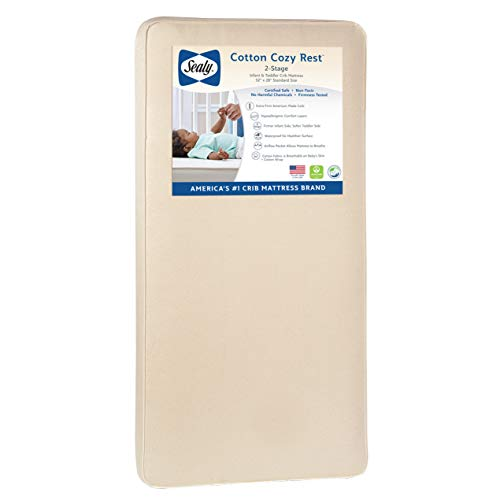 Sealy Baby Cotton Cozy Rest 2-Stage Dual Firmness Waterproof