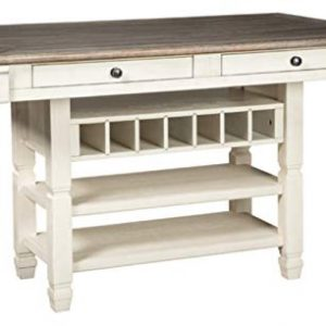 Signature Design by Ashley - Bolanburg Counter Height Dining Room Table - Antique White