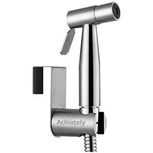 Achiotely Handheld Bidet Toilet Sprayer, Stainless Steel Bathroom Bidet Sprayer Set, Baby Cloth Diaper Sprayer, Reduce the Toilet Paper, Easy to Install