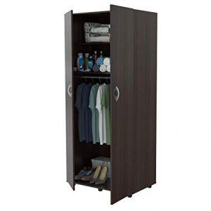 HomeRoots Two Door Wardrobe/Armoire - Melamine/Engineered Wood