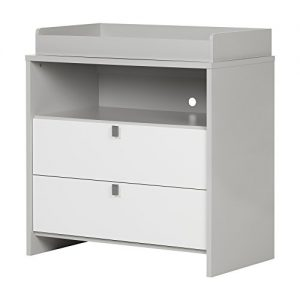 Cookie Changing Table, Soft Gray and Pure White