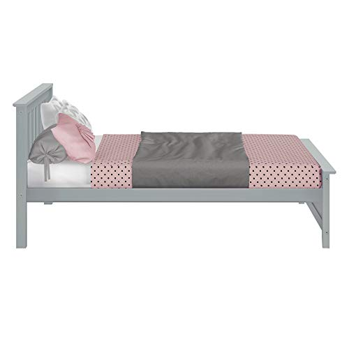 Max and Lily Platform, Full, Grey Bundle Dimensions: 81.5 x 57.6 x 38.6 inches