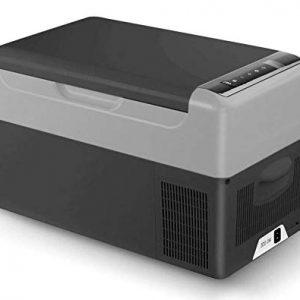 Geckoes 23 Quart Portable Refrigerator Car Fridge Freezer Compact Refrigerator -4°F ~ 68°F - 12V/24V DC and 110V AC