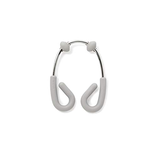 Umbra, Grey/Nickel Flex Double Shower Rings, Set of 12