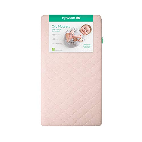 Newton Baby Crib Mattress and Toddler Bed   100% Breathable Proven to Reduce Suffocation Risk, 100% Washable, Hypoallergenic, Non-Toxic, Better Than Organic - Sunrise Pink