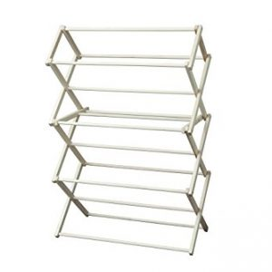 Peaceful Classics Amish Craftsman Foldable Wooden Clothes Drying Rack, Handmade Collapsible Racks for Hanging Laundry, Wash Cloths, or Towels (Medium)