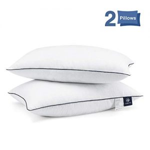 Bed Pillows for Sleeping 2 Pack, Hypoallergenic Pillow for Side and Back Sleeper, Hotel Collection Gel Pillows, Down Alternative Cooling Pillow with Soft Premium Plush Fiber Fill, Queen Size