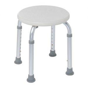 Bath Chair, Seat Non-slip Bathroom Chair Adjustable Height Medical Tool Assembly Spa Bathtub Shower Chair Shower Stool for Elderly Pregnant Handicap lkoezi (A, silver)