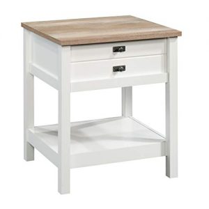 Sauder Cottage Road Night Stand, Soft White Finish