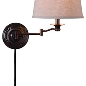 Kenroy Home Kenroy 32217CBZ Traditional One Light Swing Arm Wall Lamp from Riverside Collection Dark, Copper Bronze Finish