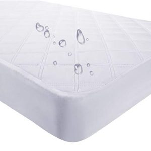 Waterproof Fitted Crib Mattress Pad and Toddler Crib Mattress Protective Baby Crib Mattress Cover Sheets Protector Bedding Sets Breathable & Hypoallergenic for Boys and Girls