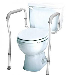 Carex Toilet Safety Rails - Toilet Safety Frame For Elderly, Handicap, or Disabled - Toilet Rails For Home Use