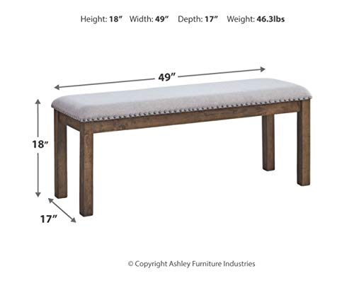 Signature Design by Ashley - Moriville Dining Room Bench Bundle Dimensions: 17.zero x 49.zero x 18.zero inches