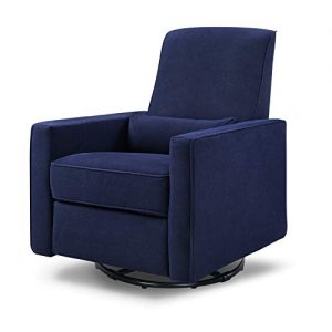 DaVinci Piper Upholstered Recliner and Swivel Glider in Navy, Greenguard Gold Certified