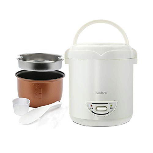 1.0L Mini Rice Cooker, Electric Travel Rice Cooker Small, Removable Non-stick Pot, Keep Warm Function, Suitable For 1-2 People - For Cooking Soup, Rice, Stews, Grains & Oatmeal