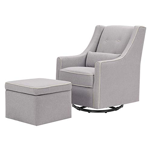 DaVinci Owen Upholstered Swivel Glider with Side Pocket