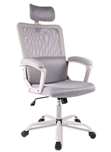 Ergonomic Office Chair Adjustable Headrest Mesh Office Chair