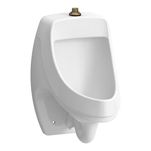KOHLER K-5452-ET-0 Dexter Washout Wall-Mount 125 Gpf Urinal with Top Spud, White