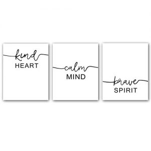 "Motivational Words Typography Artwork Quotes and Saying Art Prints,Set of 3 Art posters(8"" x10"" )Canvas Inspire Success Phrases Inspirational Print For Office Classroom Shareable Wall Art Decor"