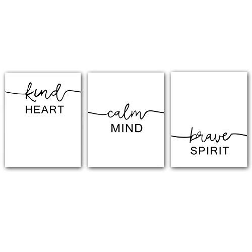 """Motivational Words Typography Artwork Quotes and Saying Art Prints,Set of 3 Art posters(8"""" x10"""" )Canvas Inspire Success Phrases Inspirational Print For Office Classroom Shareable Wall Art Decor"""