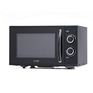 Commercial Chef CHMH900B6C 0.9 Cubic Foot Countertop Microwave, Compact, Rotary Control, Black
