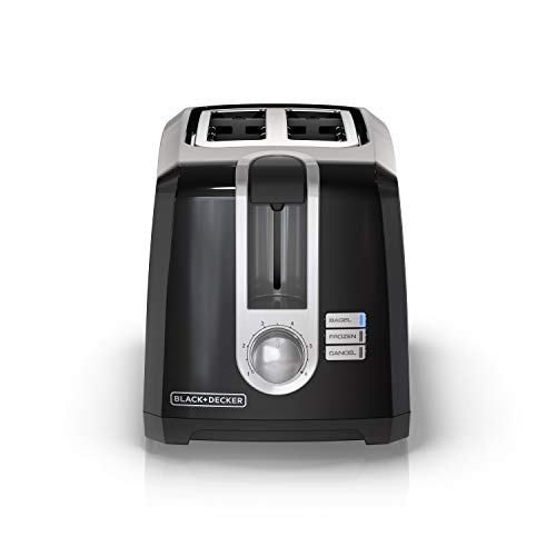 BLACK+DECKER 2-Slice Extra-Wide Slot Toaster, Square, Black Guarantee: 2 12 months Restricted