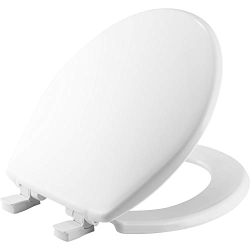 CHURCH 720SLEC 000 Toilet Seat will Slow Close and Removes Easy for Cleaning, ROUND, Plastic, White