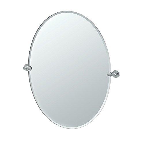 Gatco 4689LG Channel Large Oval Mirror Chrome, 32 H x 28.5 W