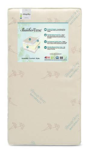 Simmons Kids SlumberTime Naturally Foam Crib and Toddler Mattress |Waterproof | GREENGUARD Certified (Natural/Non-Toxic)