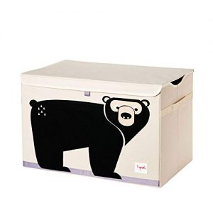 3 Sprouts Kids Toy Chest - Storage Trunk for Boys and Girls Room, Bear