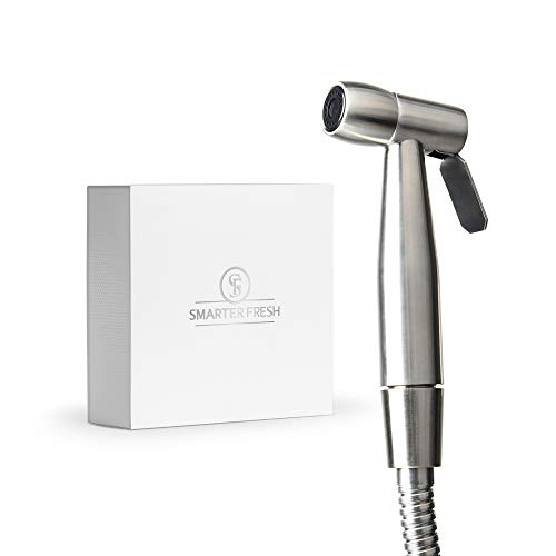 SmarterFresh Bidet Sprayer – Superior Splatter-Proof Stainless Steel Diaper Sprayer Cleans The Messiest Cloth Diapers – Complete Diaper Washer Hand Held Bidet Sprayer for Toilet
