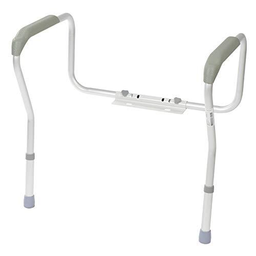 Homecraft Toilet Safety Frame, Bathroom Toilet Frame for Handicap or Disabled, Assistance Rails for Elderly, Adjustable Toilet Hand Rails for Support, Safety, and Comfort, Bathroom Grab Bar