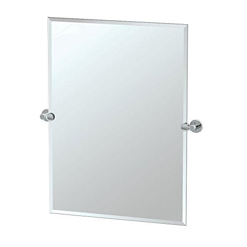 Gatco 4689S Channel Rectangle Mirror Chrome, 31.5 H x 28 W