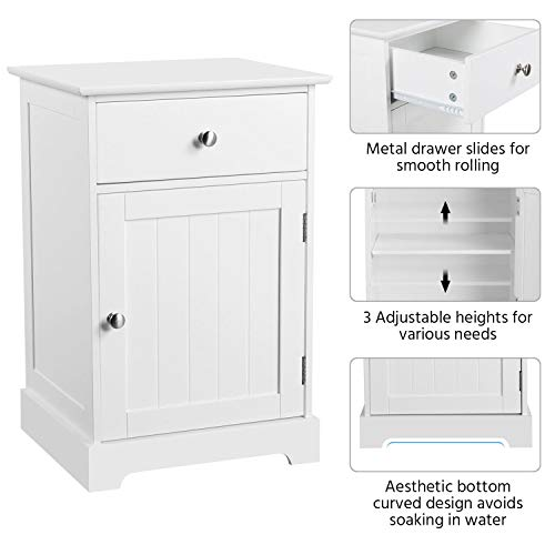 Yaheetech 2pcs Wood Nightstands, End Tables with Storage Cabinet and Drawer Bundle Dimensions: 16.zero x 14.zero x 23.6 inches