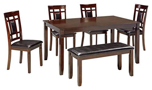 Signature Design by Ashley - Bennox Dining Table Set - 6 Piece Set - Contemporary Style - Brown