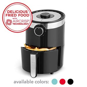 Dash DCAF250GBBK02 AirCrisp Pro Electric Air Fryer + Oven Cooker with Temperature Control, Non Stick Fry Basket, Recipe Guide + Auto Shut Off Feature, 2qt, Black