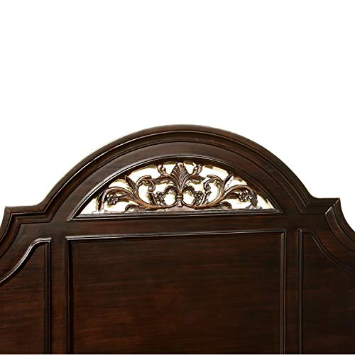 bedroom-furniture-sets, California King, Walnut Package deal Dimensions: 97.three x 78.5 x 67.1 inches