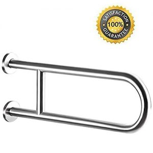 Toilet Grab Bar, 24-Inch Safety Bathroom Rail Heavy Duty Screw-In Assist Handles For ADA Bathroom