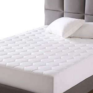 "EXQ Home Mattress Pad Twin XL Twin Extra Long Size Quilted Mattress Protector Fitted Sheet Mattress Cover for Bed Stretch Up to 18""Deep Pocket (Breathable)"