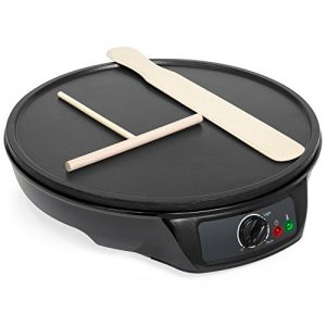 Best Choice Products 12in Non-Stick Electric Griddle Pancake Crepe Maker w/Spatula, Spreader, Indicator Light