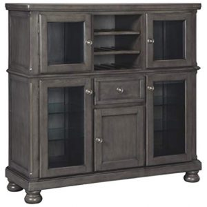 Signature Design By Ashley - Audberry Dining Room Server - Traditional Style - Dark Gray