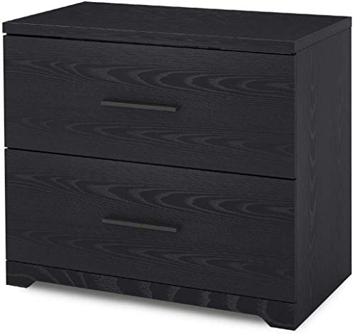 DEVAISE 2-Drawer Wood Lateral File Cabinet for Home Office, Black