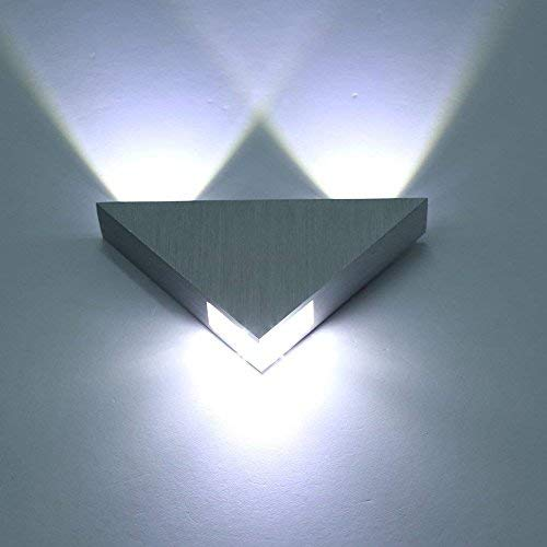 Lightess Modern LED Wall Sconces Triangle Mini Wall Lamp Designed 3W Cold White
